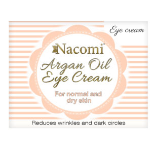 Nacomi - Eye Cream - Argan Oil, Grapeseed Oil - Normal and dry skin - 15ml