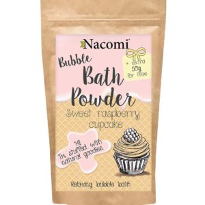 Nacomi - Bubble Bath Powder - Sweet Raspberry Cupcake - 150g